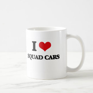 I love Squad Cars Classic White Coffee Mug