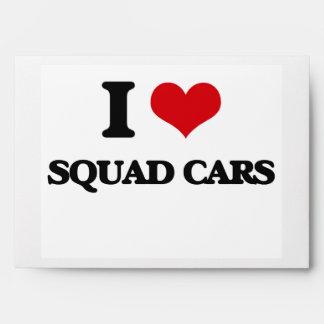 I love Squad Cars Envelope