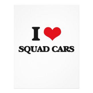 I love Squad Cars Flyer Design