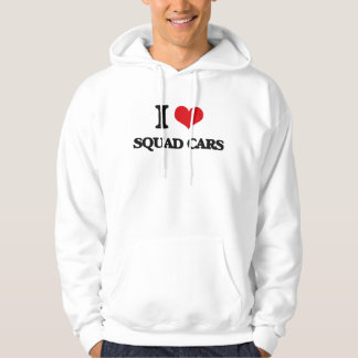 I love Squad Cars Hooded Pullover