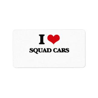 I love Squad Cars Address Label