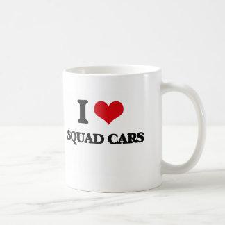 I love Squad Cars Basic White Mug