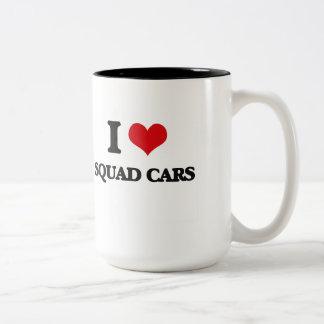 I love Squad Cars Two-Tone Mug