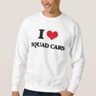 I love Squad Cars Pullover Sweatshirts
