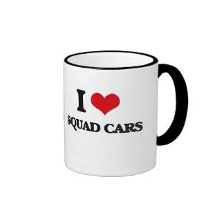 I love Squad Cars Ringer Coffee Mug