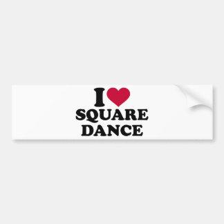 I love square dance bumper sticker