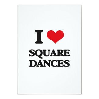 I love Square Dances 5x7 Paper Invitation Card