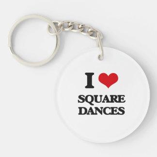 I Love SQUARE DANCES Acrylic Keychain