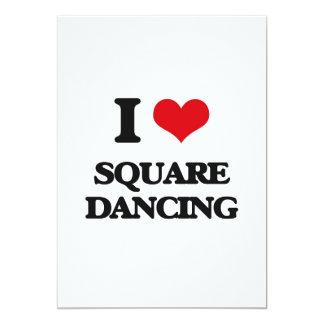 I love Square Dancing 5x7 Paper Invitation Card