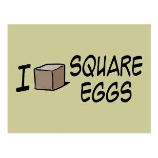 I Love Square Eggs Postcard