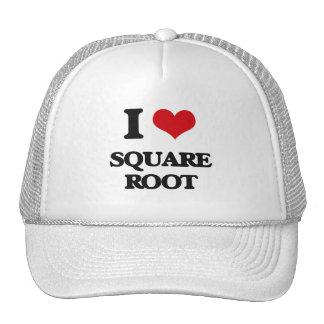I love Square Root Trucker Hat