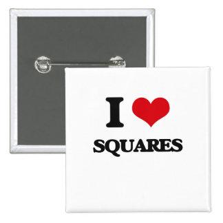 I love Squares 2 Inch Square Button