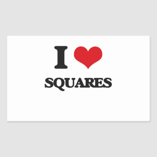 I love Squares Rectangular Sticker
