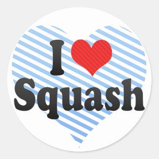 I Love Squash Classic Round Sticker