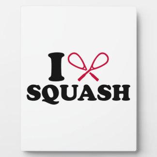 I love Squash Photo Plaques