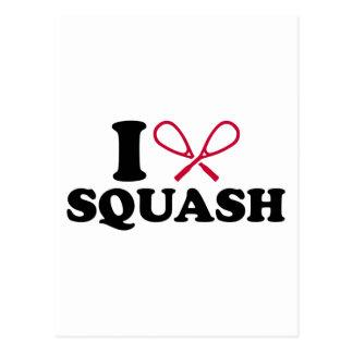 I love Squash Postcard