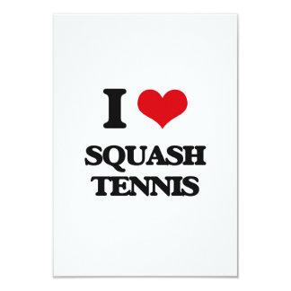 I Love Squash Tennis Invites