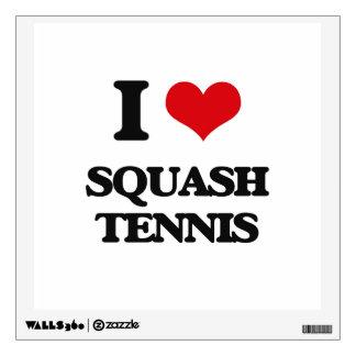 I Love Squash Tennis Wall Graphic