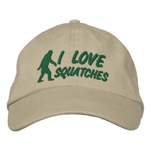 I love Squatches Embroidered Baseball Hat