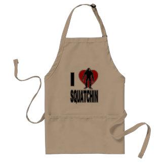 I Love Squatchin! Adult Apron