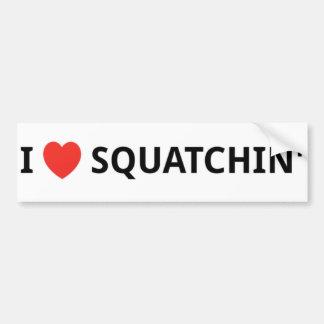 I Love Squatchin' Bumper Stickers