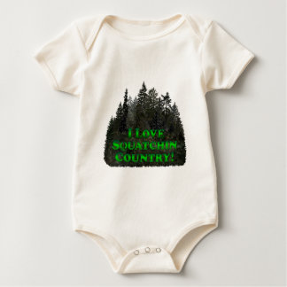 I Love Squatchin Country! - Clothes Only Baby Bodysuit