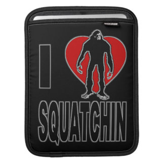 I Love Squatchin! iPad Sleeve
