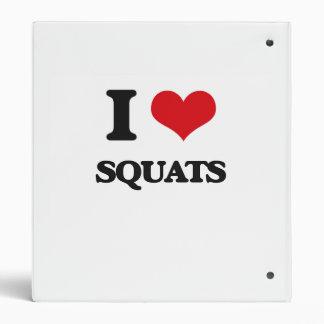 I love Squats 3 Ring Binder