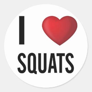 I love squats classic round sticker