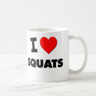 I love Squats Classic White Coffee Mug