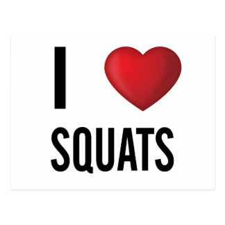 I love squats postcard