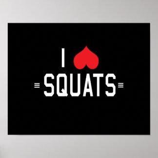 I Love Squats Poster