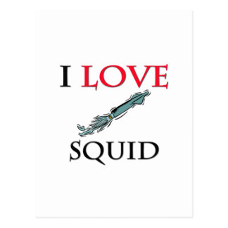 I Love Squid Post Card