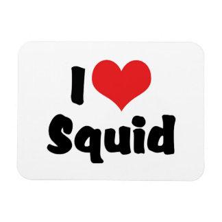 I Love Squid Rectangular Photo Magnet
