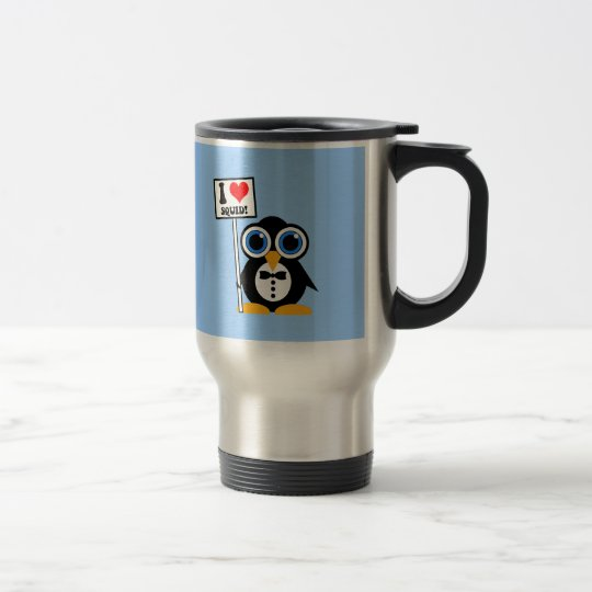 I love squid travel mug