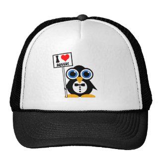 I love squid trucker hat