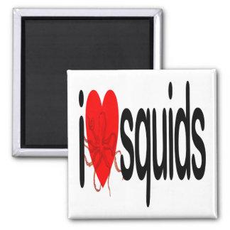 I Love Squids Magnet