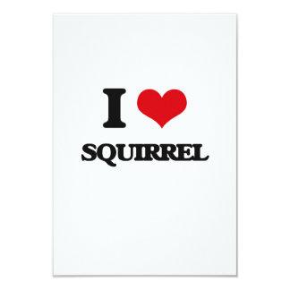 I love Squirrel 3.5x5 Paper Invitation Card