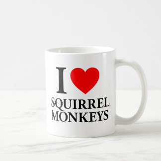 I Love Squirrel Monkeys Coffee Mug