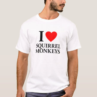 I Love Squirrel Monkeys T-Shirt