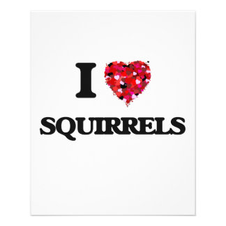"I love Squirrels 4.5"" X 5.6"" Flyer"