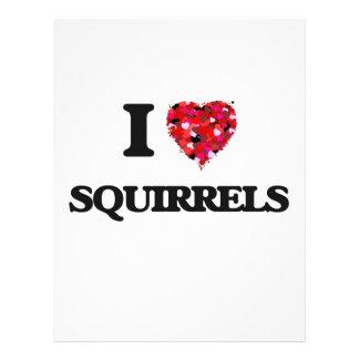 "I love Squirrels 8.5"" X 11"" Flyer"