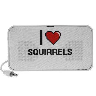 I love Squirrels Digital Design Travel Speaker