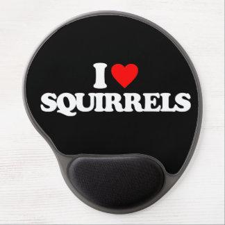 I LOVE SQUIRRELS GEL MOUSEPADS