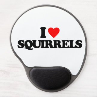 I LOVE SQUIRRELS GEL MOUSE PADS