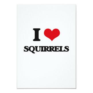 I love Squirrels 3.5x5 Paper Invitation Card