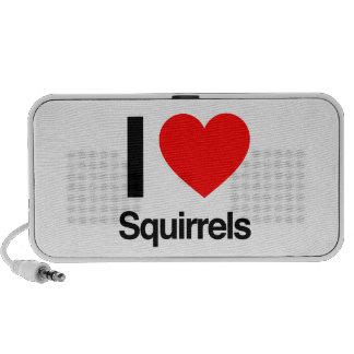 i love squirrels iPhone speakers