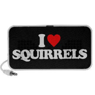 I LOVE SQUIRRELS iPod SPEAKER