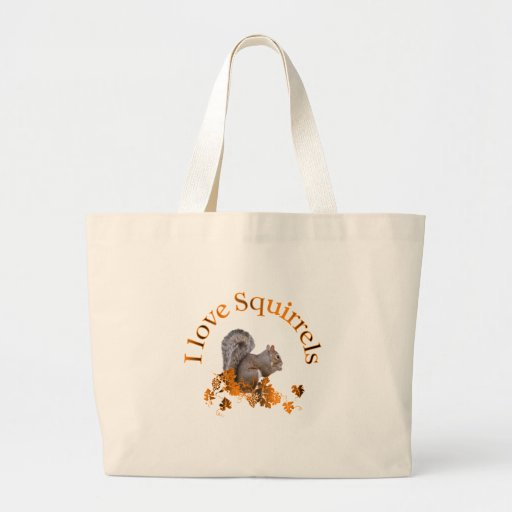 I Love Squirrels Jumbo Tote Bag