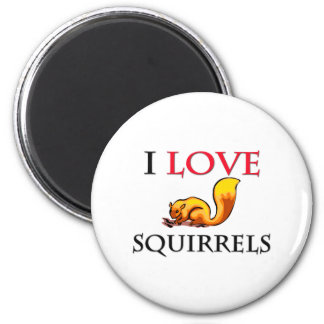 I Love Squirrels Fridge Magnet